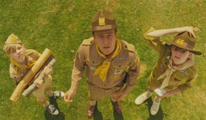 In Moonrise Kingdom (Wes Anderson's best movie), Edward Norton's expression registers concern over an approaching storm.