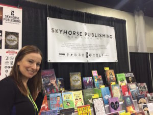 The Skyhorse booth at NCTE 2017!